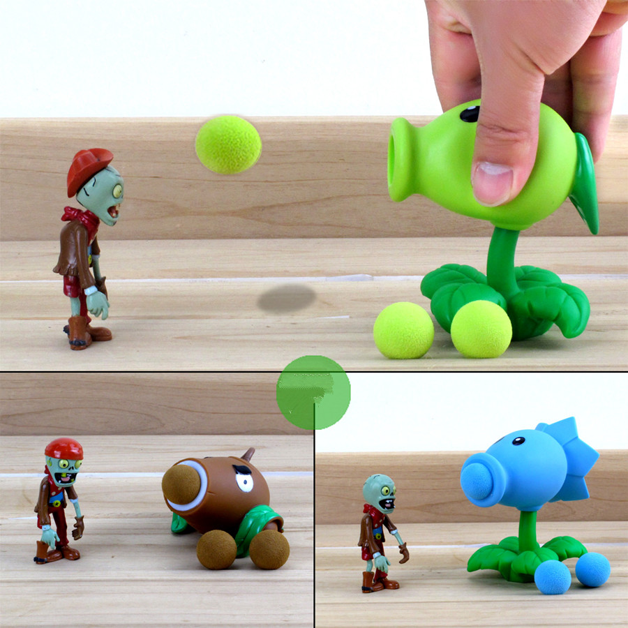 PVZ Plants vs Zombies Peashooter PVC Action Figure Model Toy Christmas Gifts 3 Style <br><br>Aliexpress
