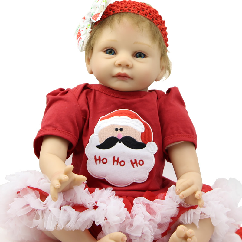 22 Inches NPK Silicone Reborn Babies Cute Doll As Birthday And Christmas Gifts Free Pacifier And Free Shipping<br><br>Aliexpress