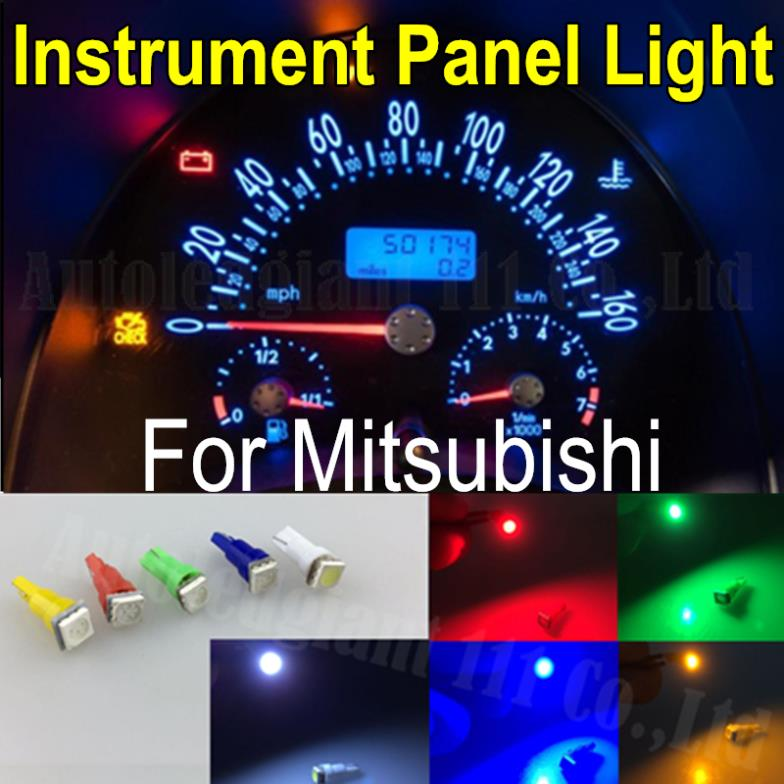 25pieces Light T5 Led 286 White Red Green Yellow Blue SMD Car Dash bulb Speedo Dashboard Gauge Instrument Light For Mitsubishi(China (Mainland))