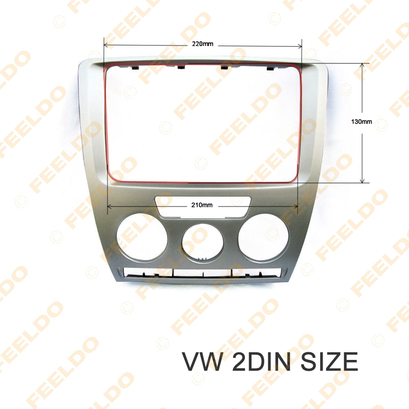 Car DVD/CD Radio Stereo 2DIN Fascia Panel Refitting Frame Facia Trim Install Mount Kit For Skoda Octavia(2007~2009) Manual A/C<br><br>Aliexpress