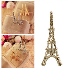 ER006  Girl fashion personalized Eiffel Tower in Paris alloy Stud Earrings for woman jewelry accessories(China (Mainland))