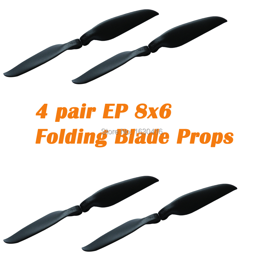 Maytech RC Radio Control Helicopter Aerial Plane Specialized Folding Blade Propeller 8inch 8x6 Plastic Props(China (Mainland))
