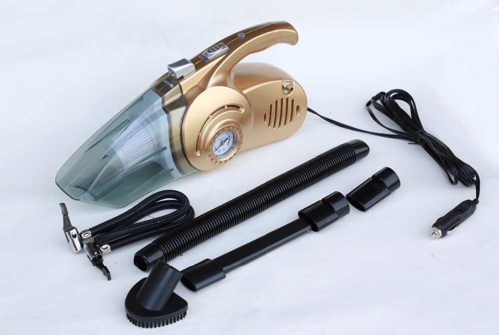 Multifunction Car vacuum cleaner wet and dry dual-use super suction Measuring tire pressure tire inflation(China (Mainland))