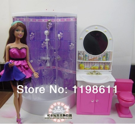 Free Shipping  Best Girls gifts DIY accessories Bathroom Washing Room Doll Furniture doll accessories for barbie doll<br><br>Aliexpress