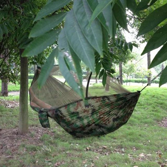 Portable Parachute Fabric Camping Hammock Mosquito Net