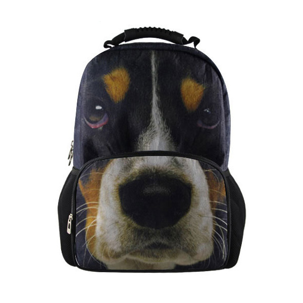 New Men Casual Canvas Backpack Basset Hound Print Middle School Students Bag Brand Mens Hunting Backpack Great Quality<br><br>Aliexpress