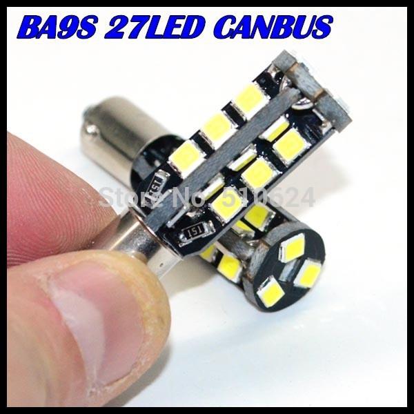 Здесь можно купить  Super Bright! 100X BA9S led W5W BA9S 194 168 2835SMD 27LED Canbus NO ERROR 12V Car Auto Bulbs Indicator Light Parking Lamps  Автомобили и Мотоциклы