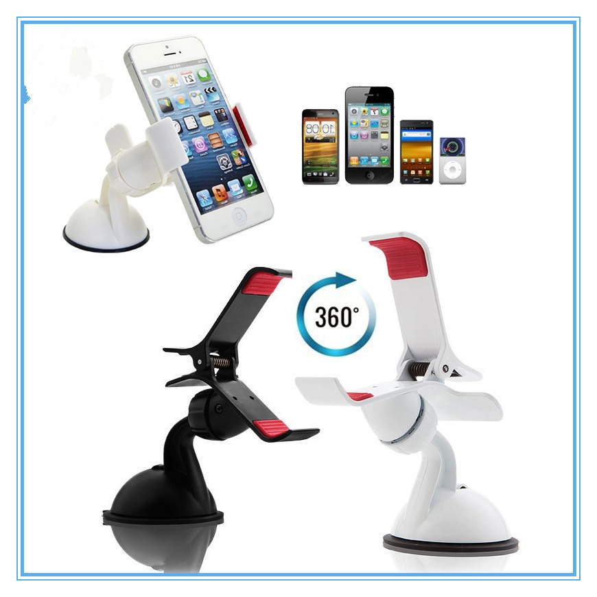 Hot New 360 Universal Mount Holder Car Windshield Stand Bracket for iPhone for Samsung for HTC Table Phone GPS Holder Cheap Z1(China (Mainland))
