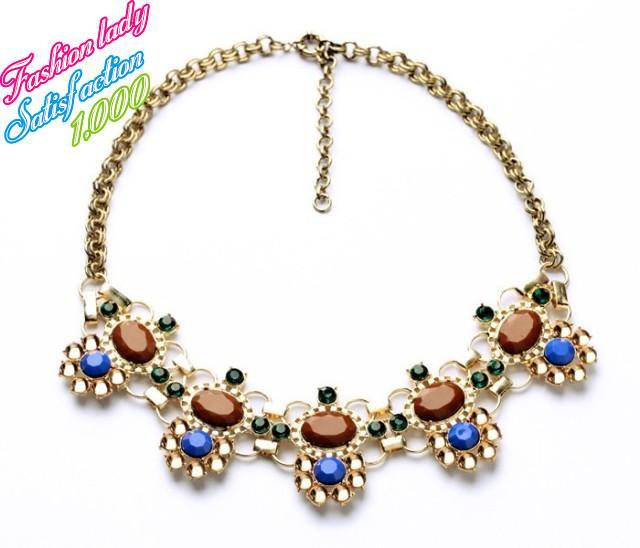 Newest fashion wholesale jewelry high quality statement necklace and pendants elegant women accesssories 1535(China (Mainland))