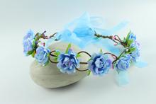 Bohemian Style Wreath Flower Crown Wedding Garland Forehead Hair Head Band Beach Wreath Bridal Headpiece bridal hair accessories