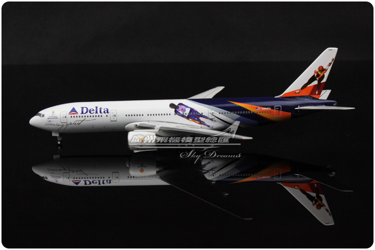 15.9cm 1:400 American Delta Airlines Plane Model SALT LAKE 2002 Boeing B777 N864DA Airways Airplane Model Collection Diecast Toy(China (Mainland))
