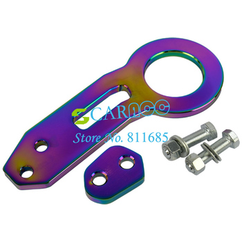 Free Shipping Rear Tow Hook Towing Set Anodized Aluminum Colorful Universal 4690