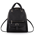 Famous Brand New Backpack Women Fashion Contracted Hand held Bag Belt Buckle Flap Pocket Backside Zipper