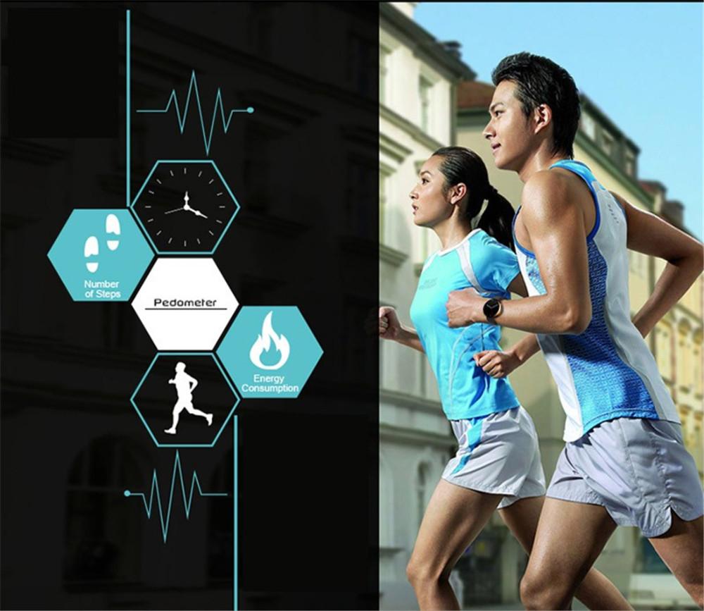 ถูก ร้อนมาถึงDM360นหัวใจดูสมาร์ทตรวจสอบหน้าจอIPSกับหัวใจออกกำลังกายติดตามIosและAndroidทั้งหมดเข้ากันได้