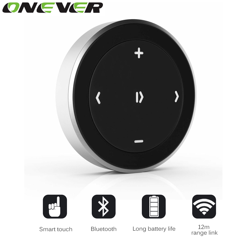 Onever Wireless Bluetooth Media Remote Control Car Steering Wheel Motorcycle Bike Handlebar Multimedia Remote Button(China (Mainland))