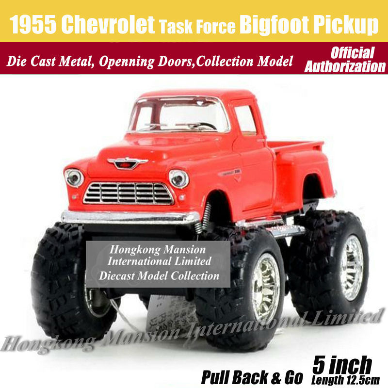 1:36 Scale Diecast Alloy Metal Classic Car Model For 1955 Chevrolet Task Force Bigfoot Pickup Collection Model Big Wheel Car(China (Mainland))