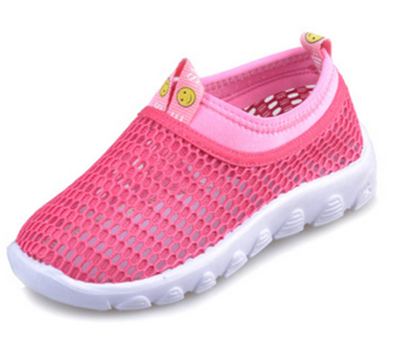 2016 New Kids loafer shoes cool sneakers for boys candy color Mesh cut-out hole summer girls shoes Plus size 27-38 free shipping(China (Mainland))