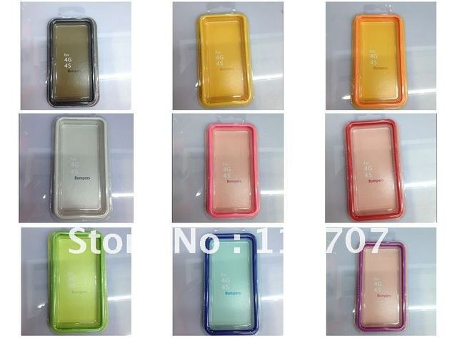 New arrival  Silicon mobile phone bumper for Iphone 4/4S, Free Shipping
