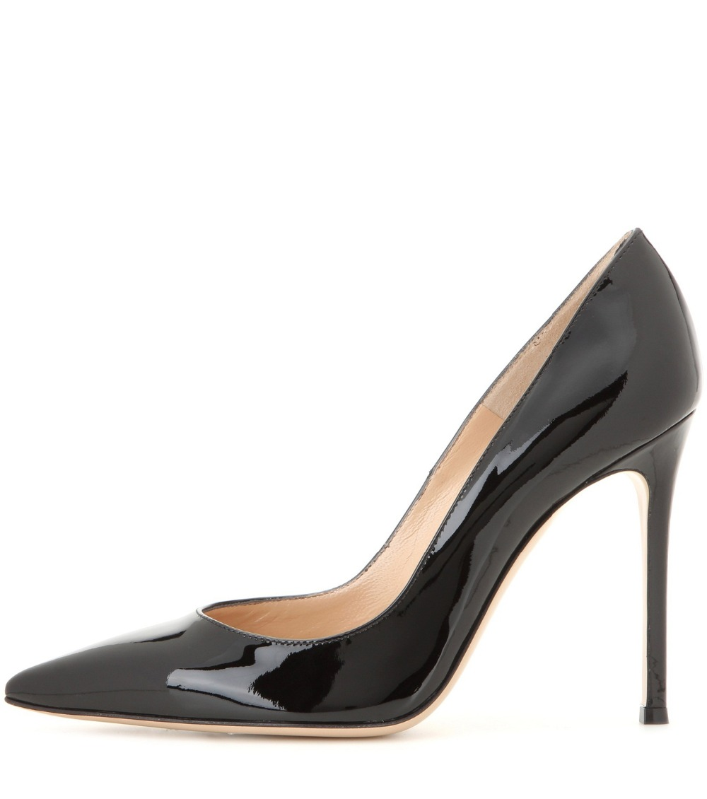 Aibarbie Women's Ladies Handmade Fashion Elegant 100mm Pointy Basic Office Party Prom High Heel Pumps Large Plus Big Size Shoes