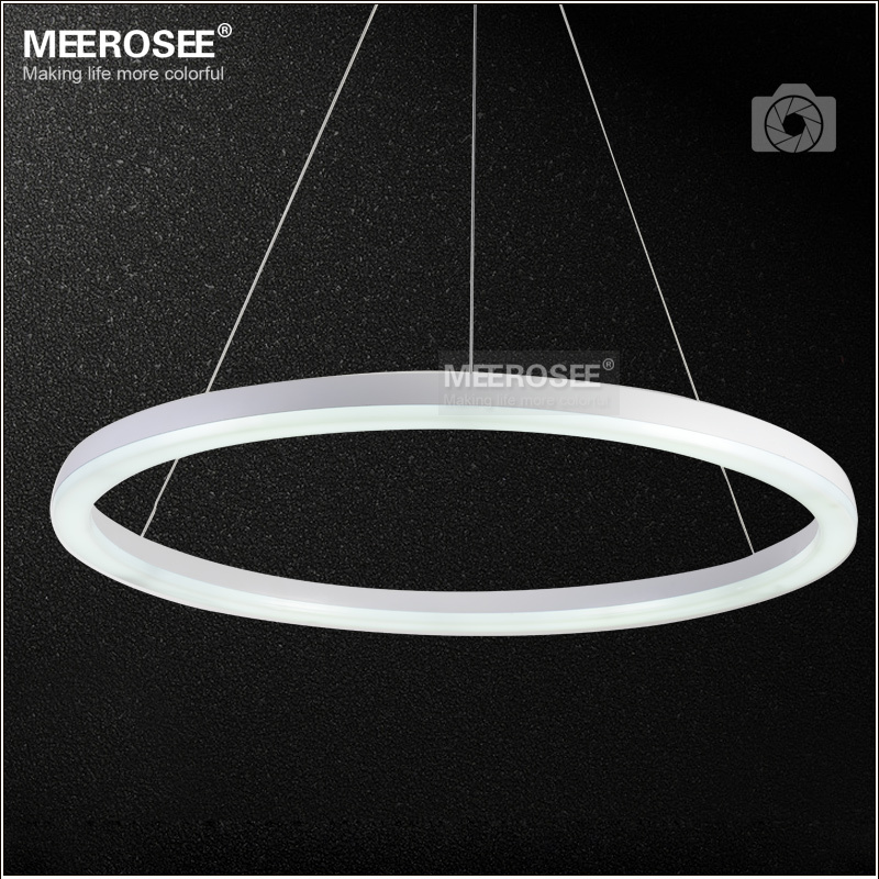 26 inch led ring light fixture acrylic pendant light. Black Bedroom Furniture Sets. Home Design Ideas