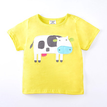 Buy 1-6 Years Cartoon Children T Shirts Boys Girls Clothes Kids T Shirt Summer Cows Pattern Cotton Girls Tops Tees Costume for $6.88 in AliExpress store