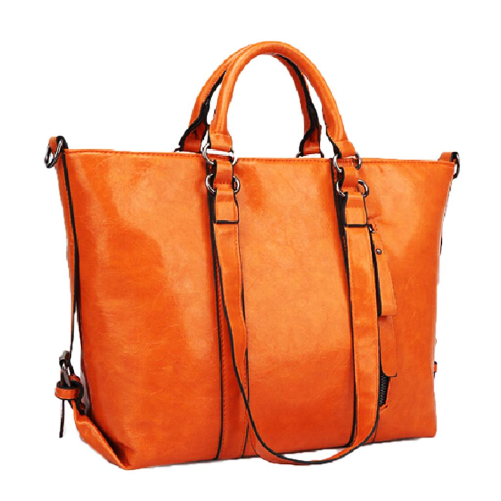 2014 New promotion women's PU Leather handbags fashion women's solid messenger bags shoulder bags large tote bag(China (Mainland))