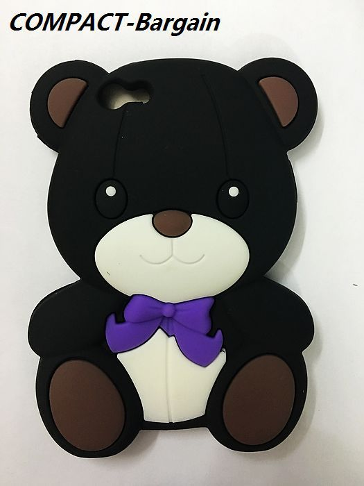 FreeShip Cute 3D Cartoon Teddy Bear Lovely Toy Bear Soft silicone case cover for Iphone 5 5s 5G SE TeddyBear capa fundas cover