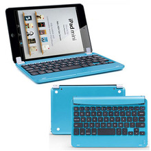 Mecall Tech Aluminum Wireless Bluetooth Keyboard Case Smart Cover For Apple For iPad Mini