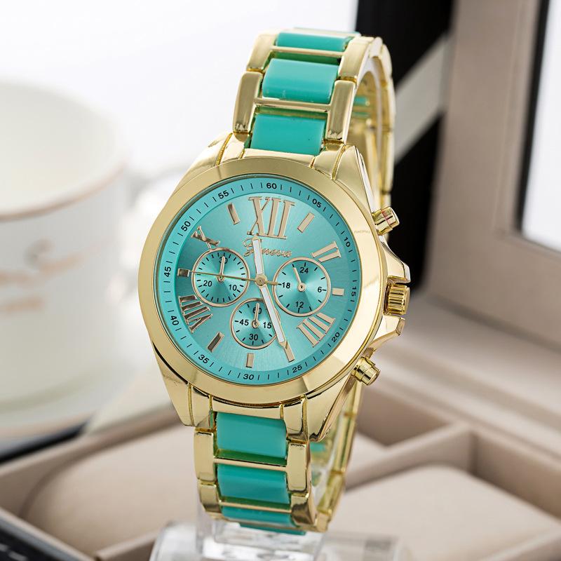 Gin di marca nuovo 2015 uomini di modo orologi del quarzo dell'acciaio inossidabile della vigilanza delle donne della vigilanza degli uomini di lusso orologio maschile relogio(China (Mainland))