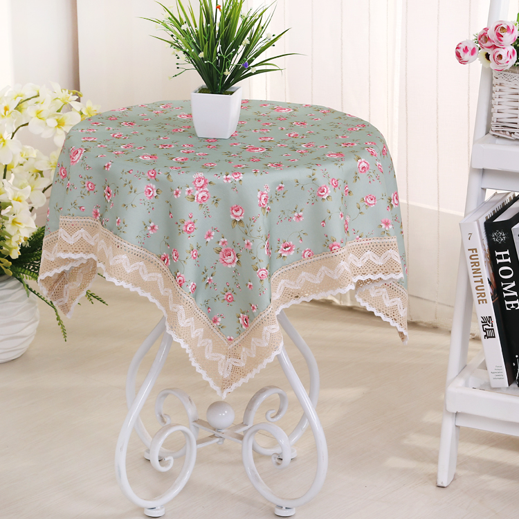 Square Table Cloth European cotton elegant advanced printed table cloth washable(China (Mainland))
