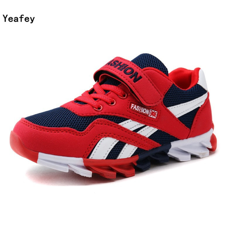 Yeafey Boy Sneakers Children Kids Red Name Brand Shoes Eur Size 26-36 Girls Air Mesh Shoes Fashion Summer Sport Breathable Shoes(China (Mainland))