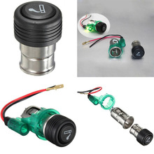 Buy 1 Pcs Newest Portable Green 12V 120W Light Motorcycle Car Boat Cigarette Lighter Power Socket Outlet Plug P25 for $2.29 in AliExpress store