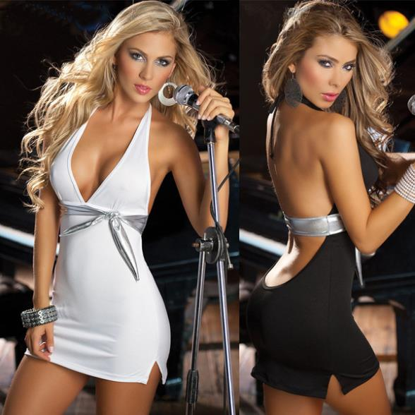 F0161 NEW Style Fashion Super Sexy Women Low-cut Halter Package hip Dress Clubwear Ladies Sexy wholesale hot sale(China (Mainland))