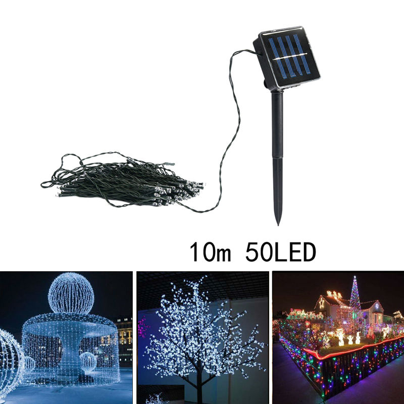 10M50LED Solar String Fairy Light Party Xmas Outdoor Garden Tree Decor Lamp Birthday Wedding Festival Holiday Decoration E5M1#