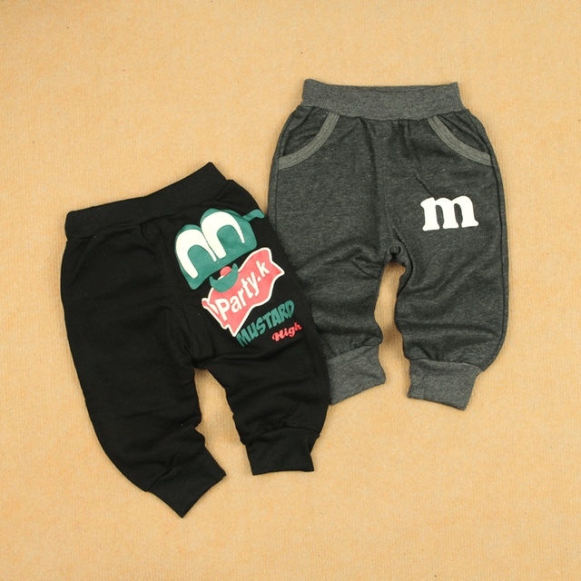 Children's clothing male female child casual pants cotton knitted 100% openable-crotch trousers pants legs large pp harem pants