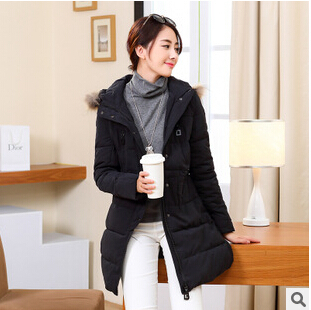 Winter coat 2014 womens new high-end real hair thick warm and long sections Slim Down hooded padded jacket women coat DM381Одежда и ак�е��уары<br><br><br>Aliexpress