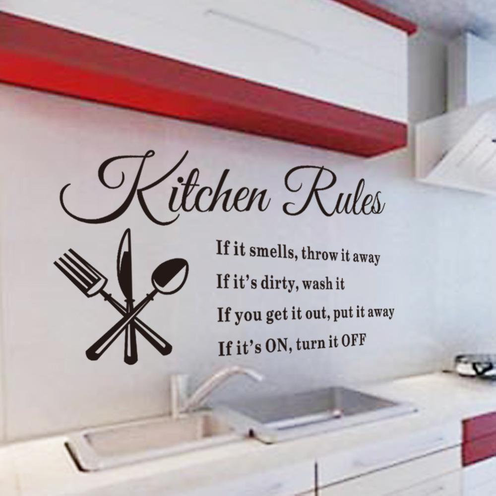 Keuken Behang 2014 : Kitchen Rules Wall Decal