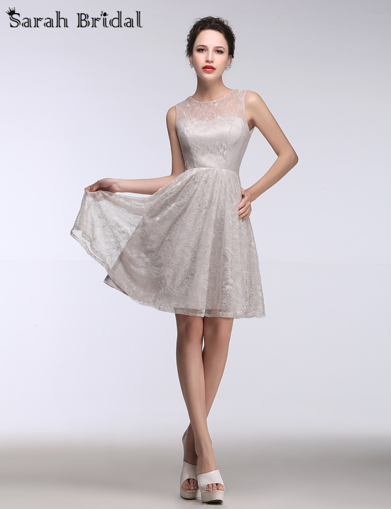 Search on aliexpress by image new short silver lace bridesmaid dresses gown 2016 knee length women dresses for parties prom dresses party gown real photo 2016 ombrellifo Gallery