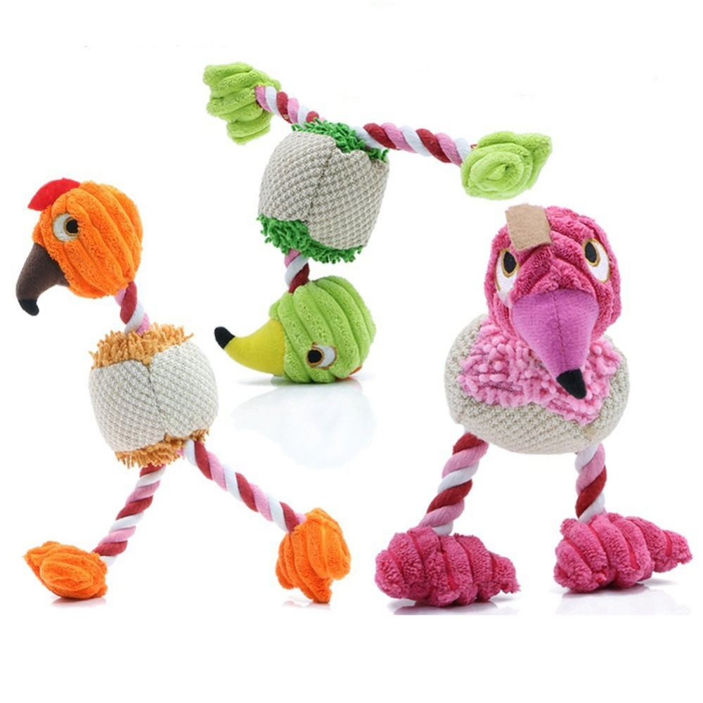 28*6cm Pet Products Bird Shape Plush Dog Toy for Small Dogs(China (Mainland))