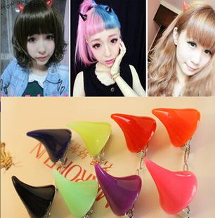 Japanese harajuku devil horns head ornaments hair clip hairpin issuing acessorios para cabelo(China (Mainland))