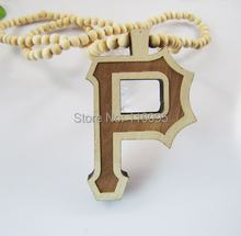 P  Letter Good Wood NYC  Hip Hop Jewelry  3  Colors  Fashion Necklace (China (Mainland))
