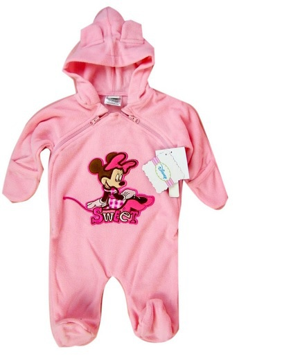 newborn Baby girl  autumn Winter Rompers,brand Baby cartoon minnie hooded jumpsuit  sleep and play wear baby sleeper<br><br>Aliexpress