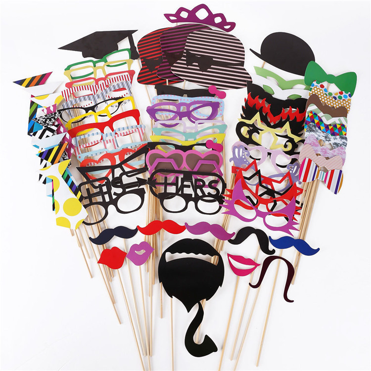 76 Pcs/Set DIY Wedding Souvenirs China Cute Photo Props With A Bamboo Stick New Photo Booth Props Mustache Lips Decoration(China (Mainland))