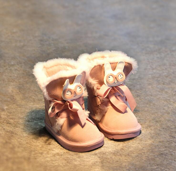 602253/71/79 Wholesale 2015 New  Baby Girls Snow Boots Fur Hook Loop Fashion Flat With Girls Boots Solid Kids Shoes Supplier<br><br>Aliexpress