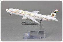 16cm Etihad B777 Airlines Alloy Airplane Model Airways Plane Model Diecast Souvenir Collections Free Shipping(China (Mainland))