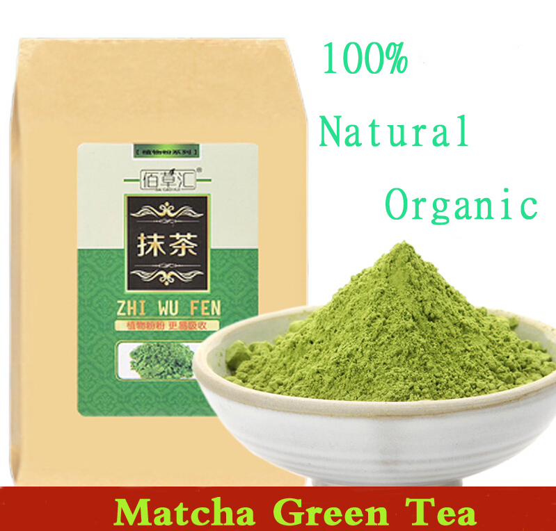 Гаджет  2015 Green Tea Natural Organic Matcha Tea Powder China 100% Natural Premium Tea For Weight Loss Heath Tea Mask / Baking / Cake None Еда