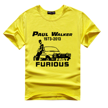 Buy Fast Furious 7 t -shirts Paul Short sleeve tee men movie clothing 100%cotton suit 2015 Latest Brand Men t Shirt O-Neck for $12.45 in AliExpress store