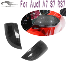 Buy A7 S7 RS7 Carbon Fiber Add style Car Side Mirror Covers Audi A7 S7 RS7 2012-2016 Rearview Mirror Caps Car styling for $151.60 in AliExpress store