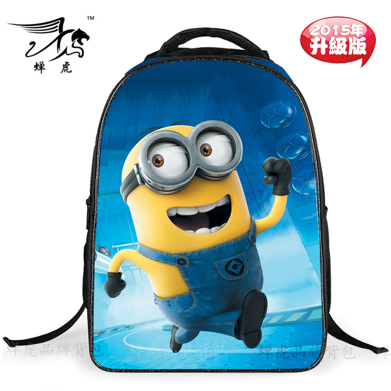 hot selling Despicable Me cartoon schoolbags little yellow guy cartoon wearproof good quality students shoulder bag CH1502(China (Mainland))