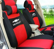 Embroidery Logo Car Seat Cover Front & Rear Complete 5 Seat For Chevrolet Epica Malibu Free Shipping Grey|Red|Beig|Blue